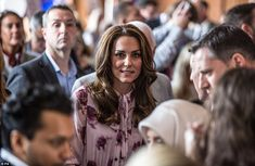 Kate prepares to make her speech at a reception at County Hall in London...