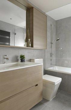 Making minimalism pop in a Hong Kong apartment Condo Bathroom, Bathroom Toilets, Bathroom Renos, Bathroom Green, Bathroom Kids, Bathroom Flooring, Bathroom Mirror Cabinet, Bathroom Design Small, Bathroom Interior Design