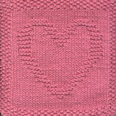 Heart Knit Dishcloth