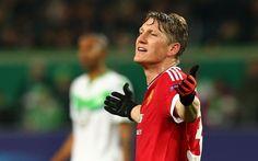 Bastian Schweinsteiger, 4k, football stars, footballers, MU, Manchester United