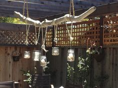 decorating with driftwood | Driftwood Chandelier with vintage glass candle holders. $275.00, via ...