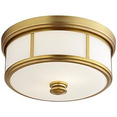 """0140 Harbour Point 13 1/2"""" Wide Liberty Gold Ceiling Light"""