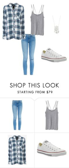 """Untitled #4"" by sammhbamm ❤ liked on Polyvore featuring Frame Denim, Cami NYC, Rails and Converse"