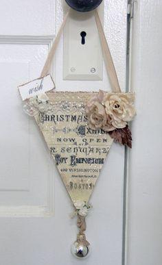 Christmas Banner - Shabby Cottage Studio - Blog