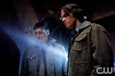 """Ghostfacers""--   Pictured (L-R) Jensen Ackles as Dean and ared Padalecki as Sam  in SUPERNATURAL on The CW. Sergei Bachlakov/The CW�2007 The CW Network, LLC. All Rights Reserved. pn"