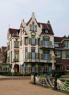 Molendal in Transvaalbuurt, Arnhem, The Netherlands; photo by Antoni F. Japanese Temple, Stone Houses, The Province, Delft, Victorian Homes, Belgium, Netherlands, Dutch, Taj Mahal