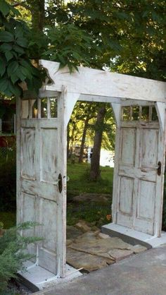 "Vintage Hard wood doors make great Landscaping Projects Project Complexity"": High Maritime Vintage.com"