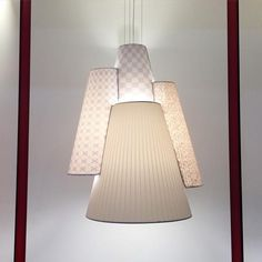 Interesting shade arrangement from @axolightusa #icff2015 #nycxdesign | New York Design Week 2015 | ICFF 2015 | A trade show for highend furniture and Home Decor ideas! See more at http://www.brabbu.com/en/news-and-events/