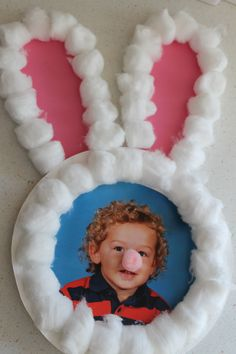 Paper plate bunny craft. #Easter #kids #crafts