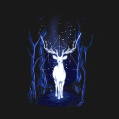 Patronus Design Harry Potter t-shirt by RedBug. Show everyone that you are a fan of Harry Potter with this Patronus t-shirt. The stag is Harry Potter's Patronus. Fanart Harry Potter, Images Harry Potter, Arte Do Harry Potter, Harry Potter Painting, Harry Potter Artwork, Harry Potter Drawings, Harry Potter Tumblr, Harry Potter Wallpaper, Harry Potter Facts