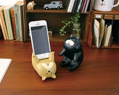 Adorable Animal Smartphone Stand (Passive / Cat): Cell Phones & Accessories Funny Christmas Gifts, Christmas Humor, Crazy Cat Lady, Crazy Cats, Pet Accessories, Cell Phone Accessories, Cool Gifts, Best Gifts, Awesome Gifts