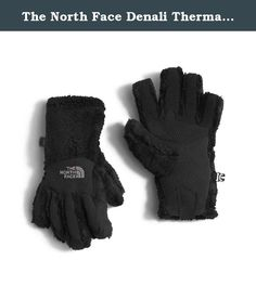 The North Face Denali Thermal Etip Glove Girls' TNF Black Large. Keep girls hands warmer while staying connected to the digital world with this new, 300-weight high-loft fleece glove that's outfitted with touchscreen compatibility for added versatility. All five fingers and the fleece palm feature conductive technology for touchscreen and click-wheel compatibility.