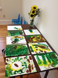 Painting Sunflowers Like Van Gogh - Pinned by @PediaStaff – Please Visit ht.ly/63sNtfor all our pediatric therapy pins