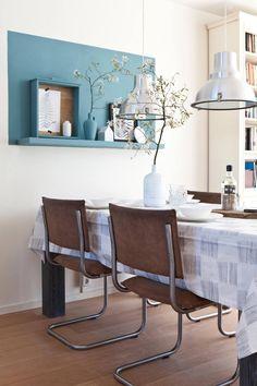 Wall decor dining room  http://www.vtwonen.nl/tv/doe-het-zelf/zondag-3-mei-kijken-kopen-klussen/?utm_source=social&utm_medium=facebook&utm_content=post-na-03052015&utm_campaign=diytv