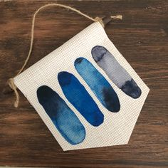 Mini Canvas, Blue Ombre, Wall Hangings, Wood Wall, Sunglasses Case, Trending Outfits, Unique Jewelry, Handmade Gifts, Etsy