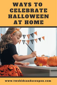 Make Halloween fun and safe this year with these fun ways to celebrate Halloween at home. Here are some fun activities to do together! Cute Halloween Food, 31 Nights Of Halloween, Halloween Party Activities, Halloween Film, Dollar Store Halloween, Diy Halloween Costumes For Kids, Happy Halloween, Halloween 2020, Halloween Ideas