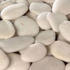 Galets Décoratifs - 3L - Blanc - Okinawa - 3/6 cm