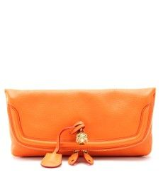 FLAP-OVER LEATHER CLUTCH