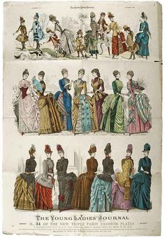 1886 Fashion plate from The Young Ladies' Journal