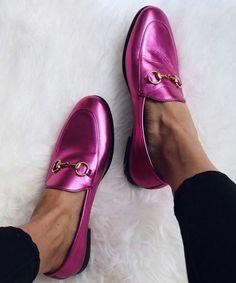 PINK metallic shoes love