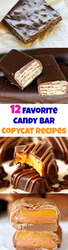 12 Favorite Candy Bars Copycat Recipes - these are all so easy!!