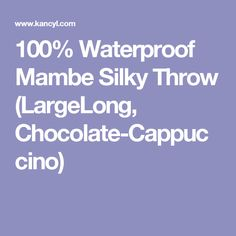 100% Waterproof Mambe Silky Throw (LargeLong, Chocolate-Cappuccino) Bedroom Chair, Master Bedroom, The 100, Chairs, Articles, Chocolate, Master Suite, Chocolates, Stool