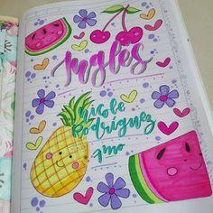 Notebook Art, Notebook Covers, School Notebooks, Cute School Supplies, Decorate Notebook, Filofax, Happy Planner, Alphabet, Diy And Crafts