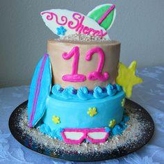 Beach Party Birthday Cake | A baJillian Recipes