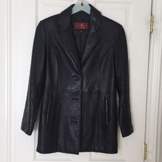 Hp Katiana K Couture Black Leather Jacket