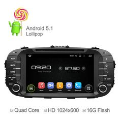 HD 1024*600 Car Player Android 5.1 DVD For Kia Soul 2014 2015 Quad Core Multimedia Player GPS Radio Support Ipod Touch Screen | Shop Now! - WorldOfTablet.com