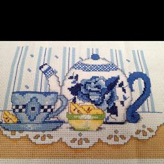 Counted cross stitch - Tea time