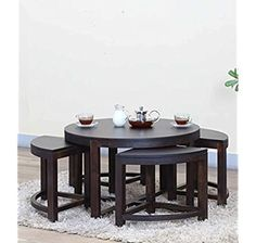 Glass Dining Table Set, Cream Cushions, Solid Wood Furniture, Particle Board, Online Furniture, Stools, Rattan, Honey, Electronics