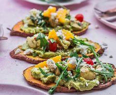 Kumara toast salad with marinated mushrooms and smashed avocado (thanks for the pic) Kumara Recipes, Veggie Recipes, Cooking Recipes, Marinated Mushrooms, Stuffed Mushrooms, Avocado Thanks, Cauliflower Mushroom, Smashed Avocado, Smoked Paprika