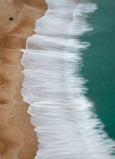 Ribbon waves on the beach. No Wave, Quantum Foam, I Love The Beach, Pretty Beach, All Nature, Le Far West, Ocean Beach, Beach Bum, Beach Waves