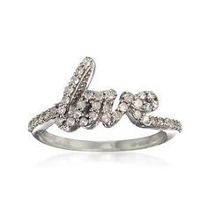 .33 ct. t.w. Diamond Love Ring in Sterling Silver