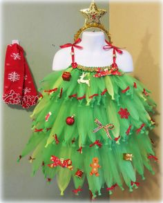 Christmas Tree Tutu Portrait Costume Pageant by WhimZiesBoutique