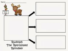 Free: Rudolph The Red-Nosed Reindeer Writing Practice.  Draw a picture of Rudolph and write 3 sentences or 3 things about him.  FREEBIE For A Teacher From A Teacher! fairytalesandfictionby2.blogspot.com
