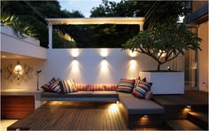 Deck Cushioned Benches