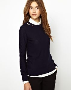 Image 1 ofSonia by Sonia Rykiel Lambswool Jumper with Jewel Stone Embellishment