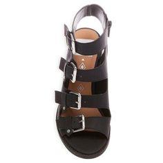 Women's dv Tessa Multiple Buckle Heeled Quarter Strap Sandals - Black 5.5