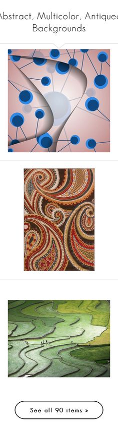"""Abstract, Multicolor, Antiqued Backgrounds"" by maryv-1 ❤ liked on Polyvore featuring backgrounds, home, rugs, blue, blue floral area rug, blue brown rug, red floral rug, brown rug, brown floral rug and home decor"