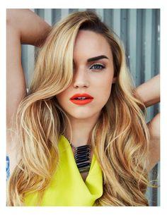 bold lip, bold brow