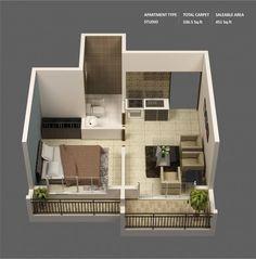 Quando se pensa em apartamento de 1 quarto geralmente a primeira idéia é de espaço pequeno, dificuldade de adaptação dos móveis, pessoas se esbarrando o tempo todo, impossibilidade de receber visitas e assim por diante.