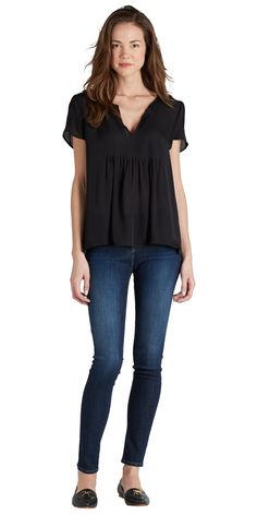 JOIE lonelle top {Love this outfit! I would pair it with different shoes though.}