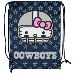 Dallas Cowboys Hello Kitty Drawstring Backpack,   $12.99