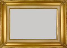 f1deaf62aa92 Classic Gold Picture Frame With A Natural Linen Liner.