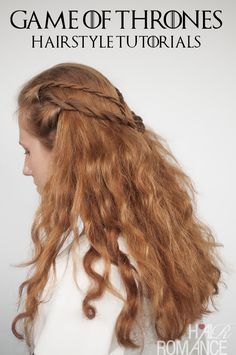 Game of Thrones Hairstyles - Cersei Lannister rope braid hairstyle tutorial