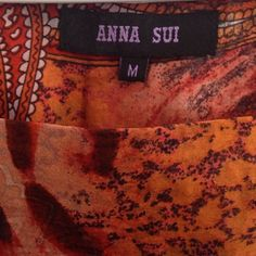 Counterfeit Anna Sui label on fake dress