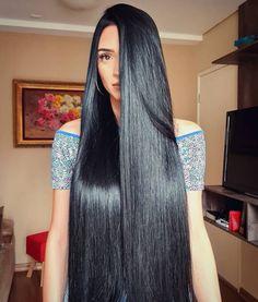 Long Silky Hair, Long Dark Hair, Super Long Hair, Indian Hair Cuts, Indian Long Hair Braid, Straight Black Hair, Hair Color For Black Hair, Shiny Hair, Long Black