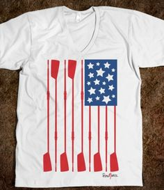row graphic SUA instead of stars with yellow oars united states of rowing (v-neck) - Row Row Row, Row Row Your Boat, The Row, Rowing Oars, Rowing Crew, Boys In The Boat, Cool American Flag, Coxswain, Interior Design Classes